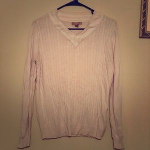 WOMAN'S LONG-SLEEVE, V-NECK SWEATER